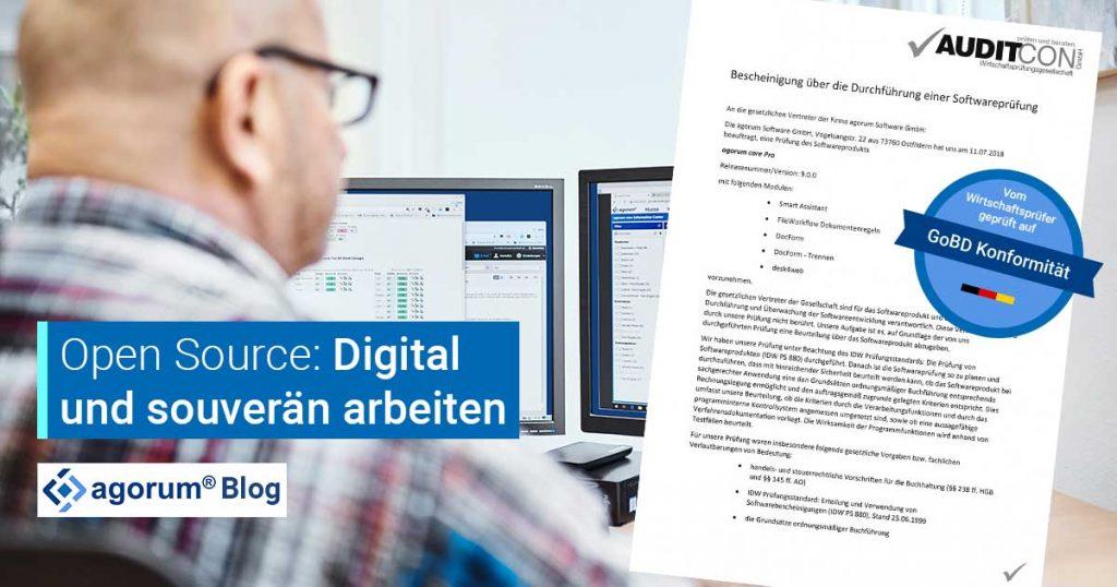 Digitale Souveränität mit Open Source und agorum core