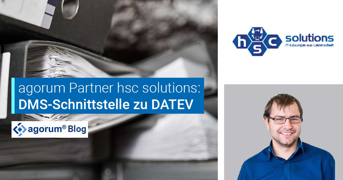 DMS-Schnittstelle zu DATEV: <br>hsc solutions bietet Komplettpaket