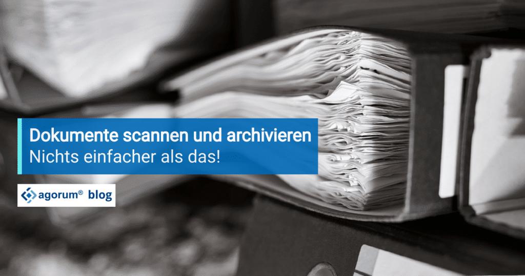 Rechnungen scannen und archivieren