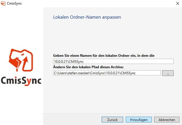 CmisSync Konfiguration 4