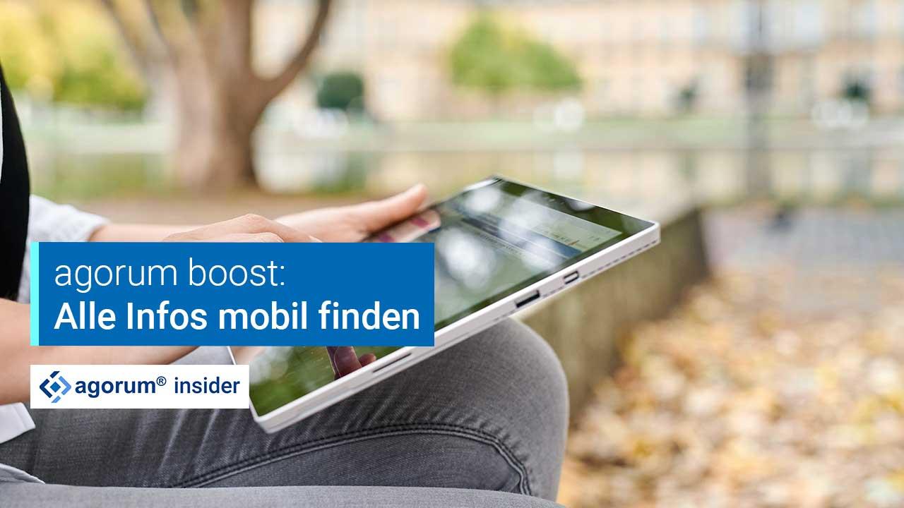Suche mit agorum boost - Alle Infos mit Smartphone & Tablet finden