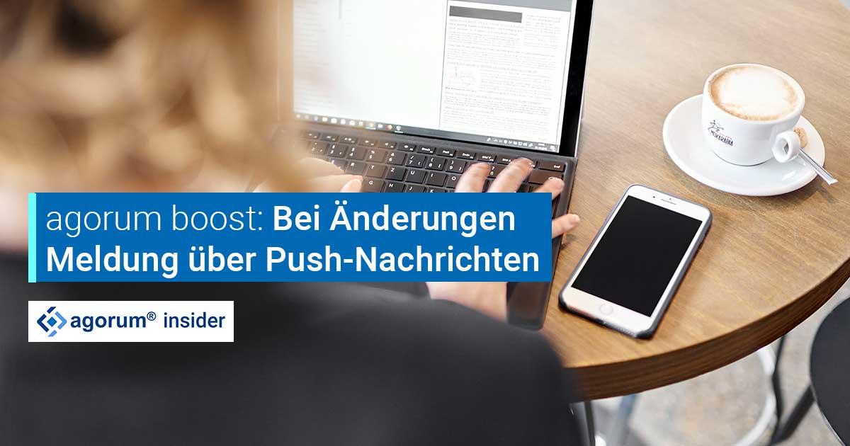 Push-Nachrichten bei Änderungen