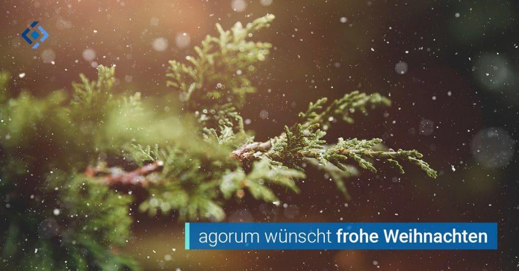 Frohe Weihnachten wünscht agorum