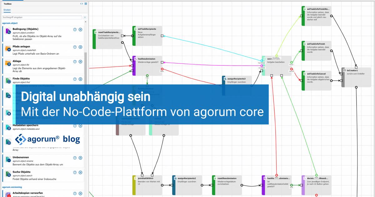 Digital unabhängig sein und individuelle Prozesse gestalten - mit einer No-Code-Plattform