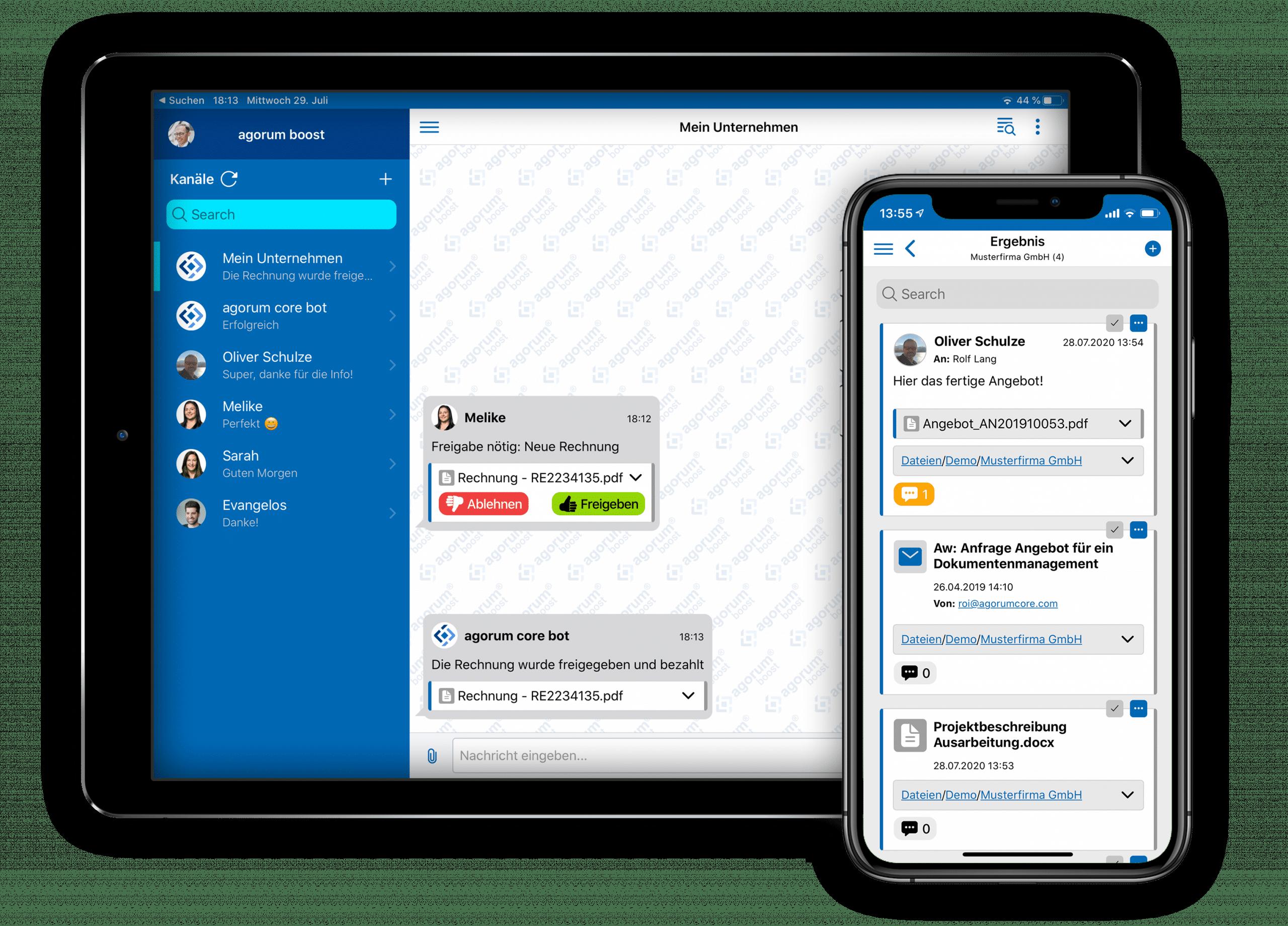 Open Source Dokumentenmanagement - mobil Arbeiten mit agorum boost