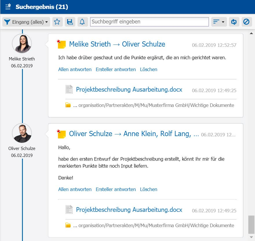 Open Source Dokumentenmanagement - Social Collaboration, Notizen am Dokument