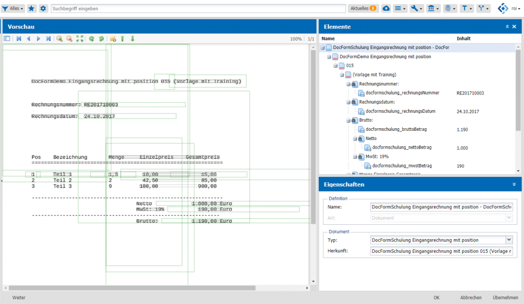 OCR-Engine DMS agorum core verify